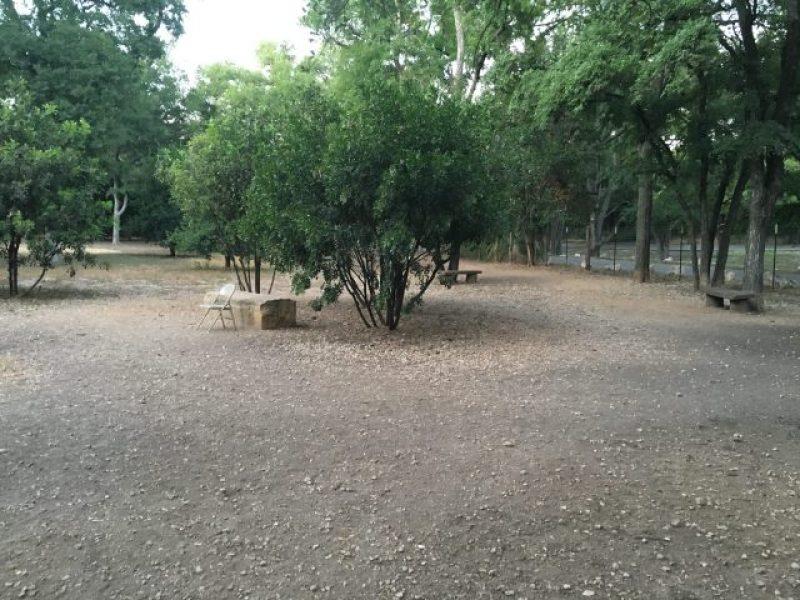 The desolate Bark Park of Alamo Heights.