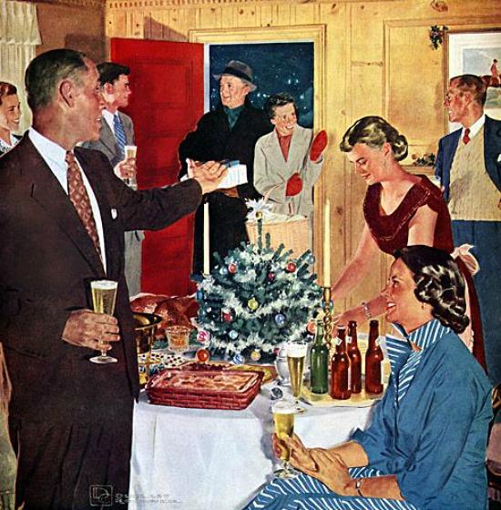 retro holiday party