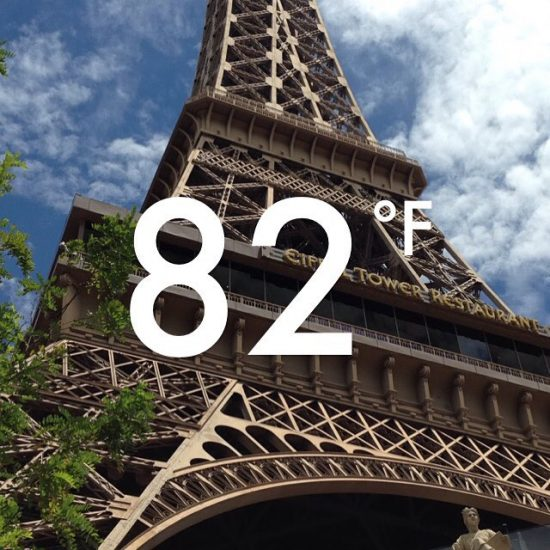 Las Vegas Temperature Paris