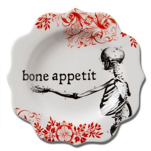 Bone Appetit Skeleton Appetizer Plate