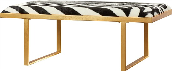 gold-coffee-table-cowhide-upholstery