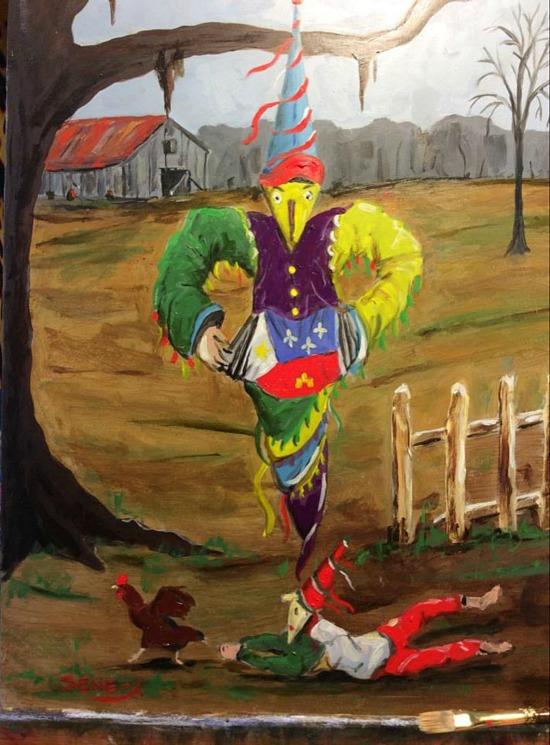 Cajun Mardi Gras painting