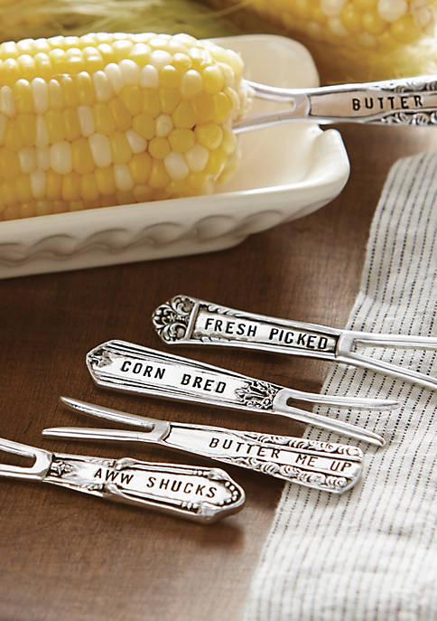 Mud Pie® Mud Pie® Circa 4-Piece Corn Pick Set