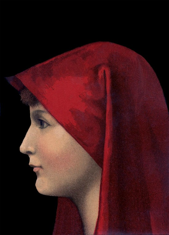 Vintage-Lady-with-Red-Veil