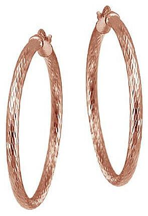 Mondevio-Sterling-Silver-35-mm-Diamond-cut-Hoop-Earrings