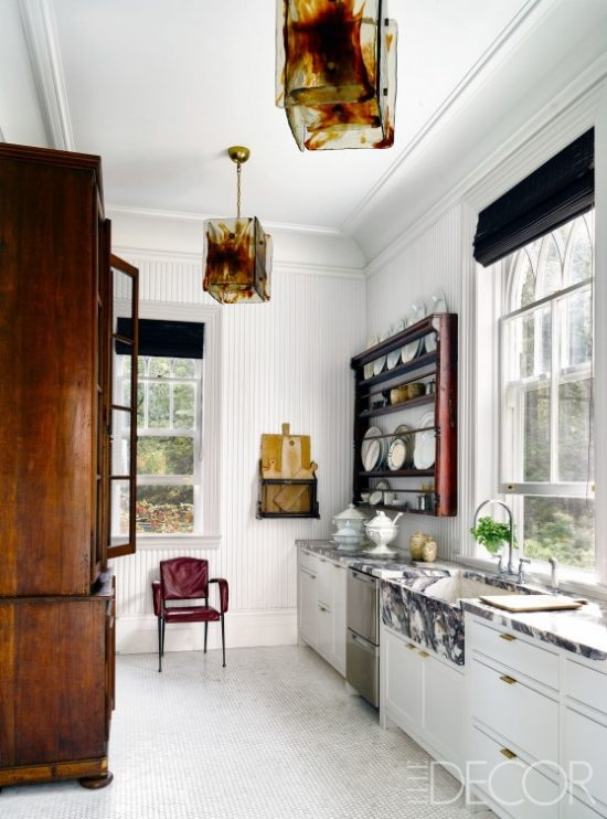 white-kitchen-marble-countertops