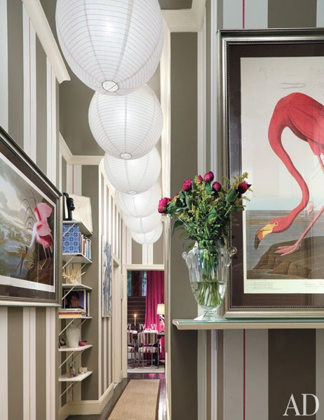 flamingo-print-on-wall