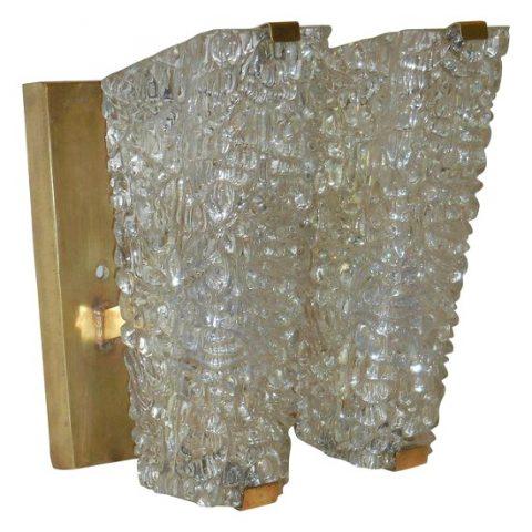 cubist glass sconces