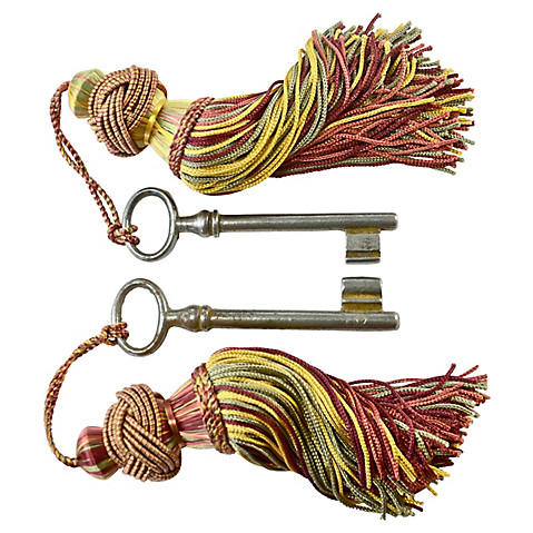 European key tassels