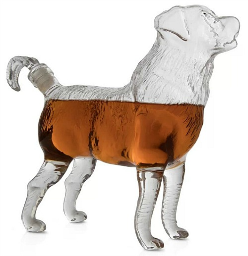 Katrina Dog Shaped Liquor Whiskey Decanter