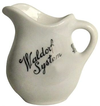 Vintage Hotel Waldorf Systems Jackson China Pitcher Creamer