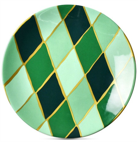 Emerald Collection Diamond salad plate from Coton Colors