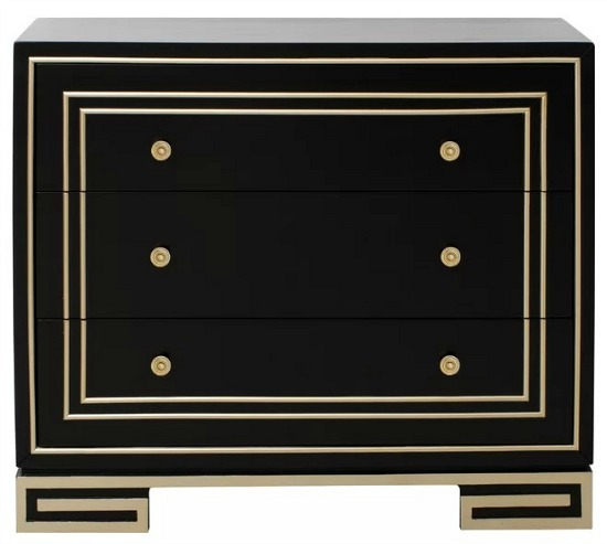 black-gold-3-drawer-accent-chest