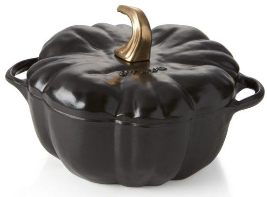 Staub ® 3.5-qt Black Cast Iron Pumpkin Cocotte