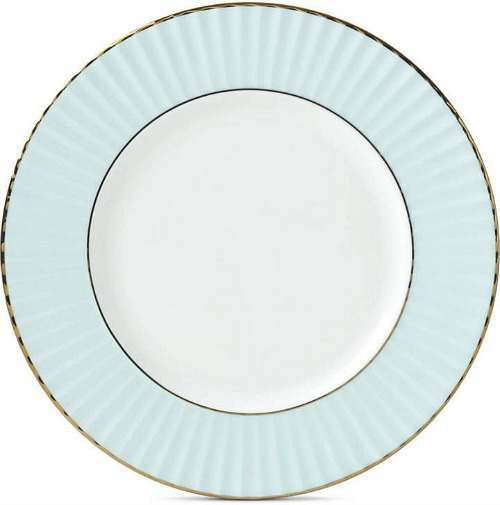 Lenox Pleated Colors Aqua Salad Plate