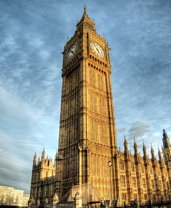 The Tower of Big Ben in the Sunset light