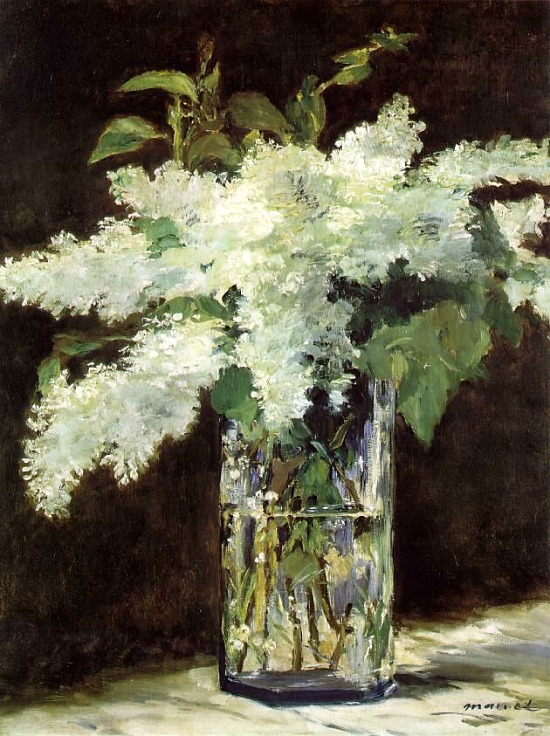 Manet, Edouard - Lilacs In A Vase, c.1882