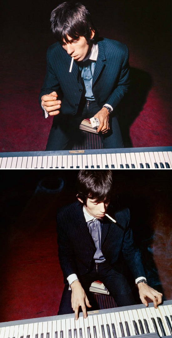 """Bent Rej Keith Playing the Piano II"""" - Keith Richards Backstage Copenhagen"""
