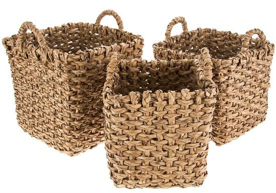 woven square basket set