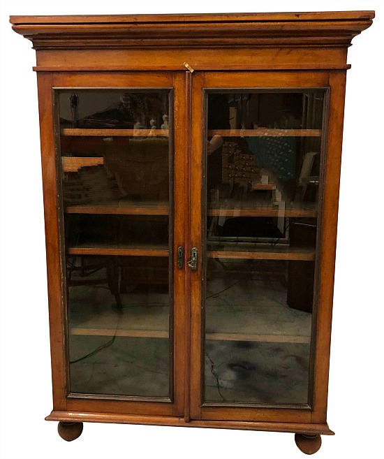 antique-english-mahogany-bookcase