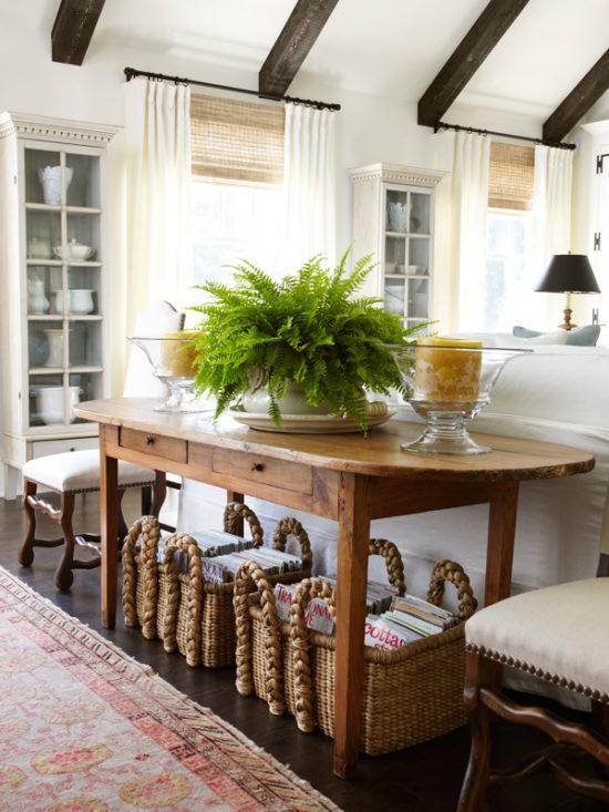 basket-storage-under-sofa-table