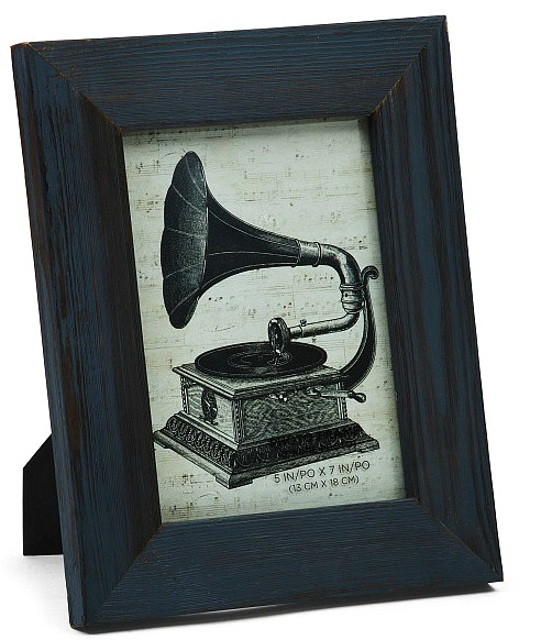 blue-wood-photo-frame