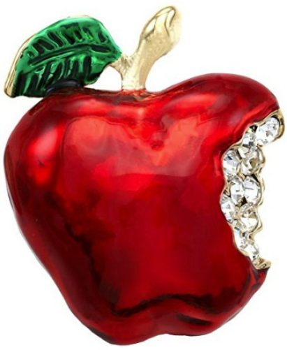 red apple fruit pin