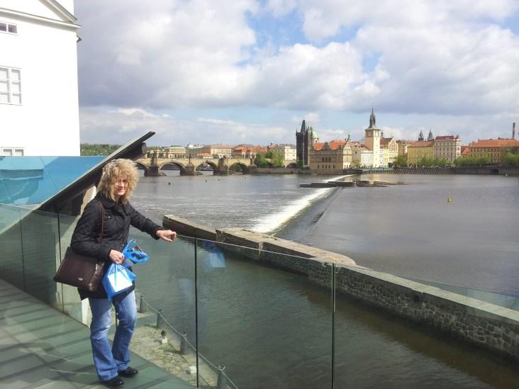 Charles Bridge and River Vltava, from Kampa Island, Prague