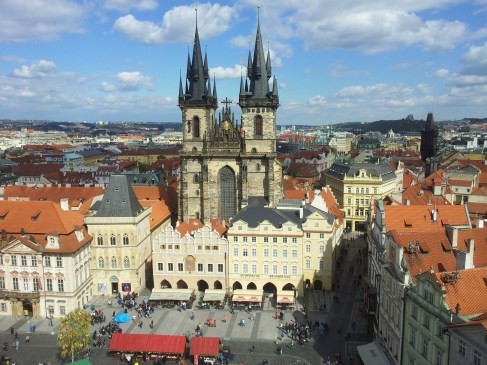 Church of Our Lady Before Tyn, from the Clock Tower, Prague