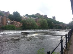 View of Durham Castle and Cathedral from the river