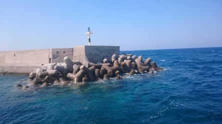 Concrete breakwater castings, Rethymno Outer Harbour