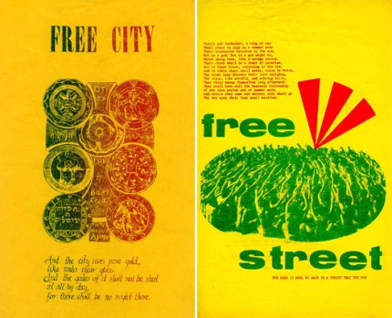 diggers free city free street posters street theater