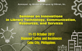 Seminar on Innovations in Library Technology, Communication, Resources, and Services