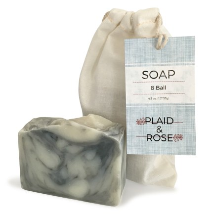 8 Ball Plaid & Rose Cocoa Butter Soap
