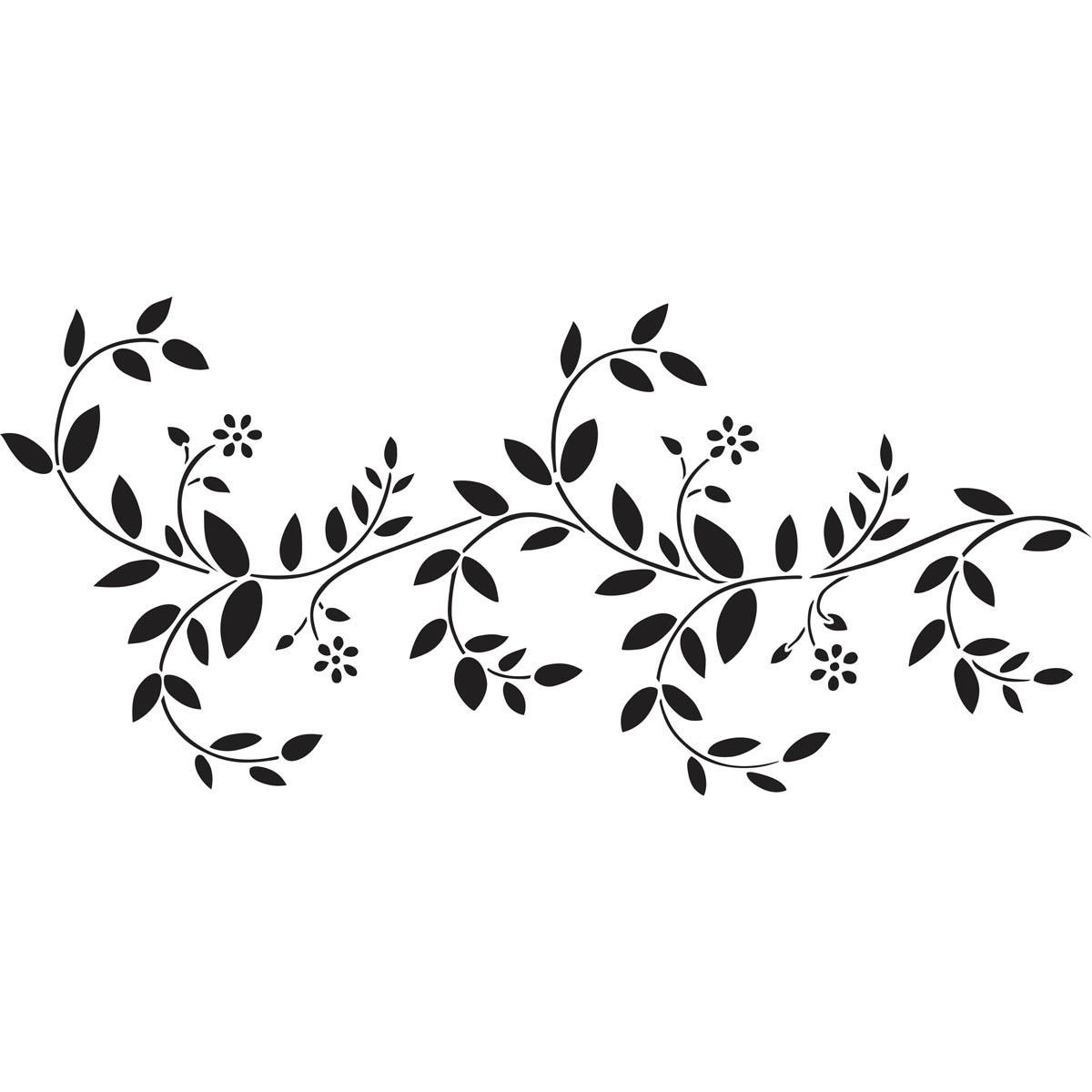 Black And White Vine Stencils