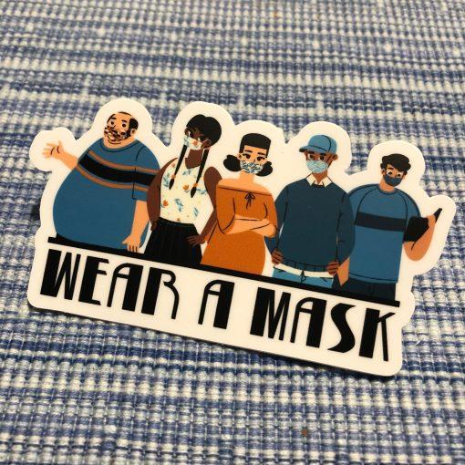"""""""Wear a Mask"""" sticker"""