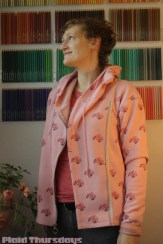 P450-Pink Flower Hoodie-4