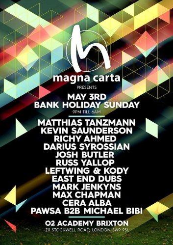 Magna Carta - Bank Holiday Sunday - Artwork