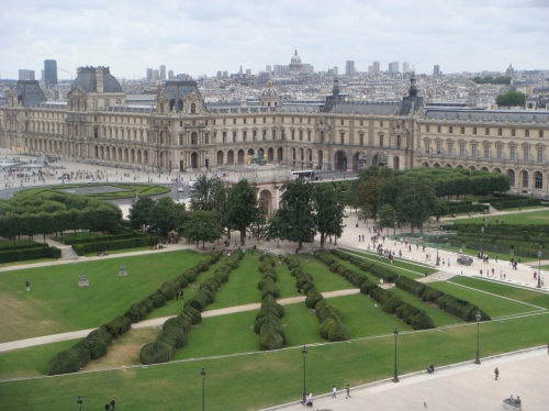 View from the top: The Louvre