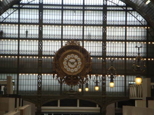 Time ticking: The imposing clock at Musée d'Orsay, which was an old train station