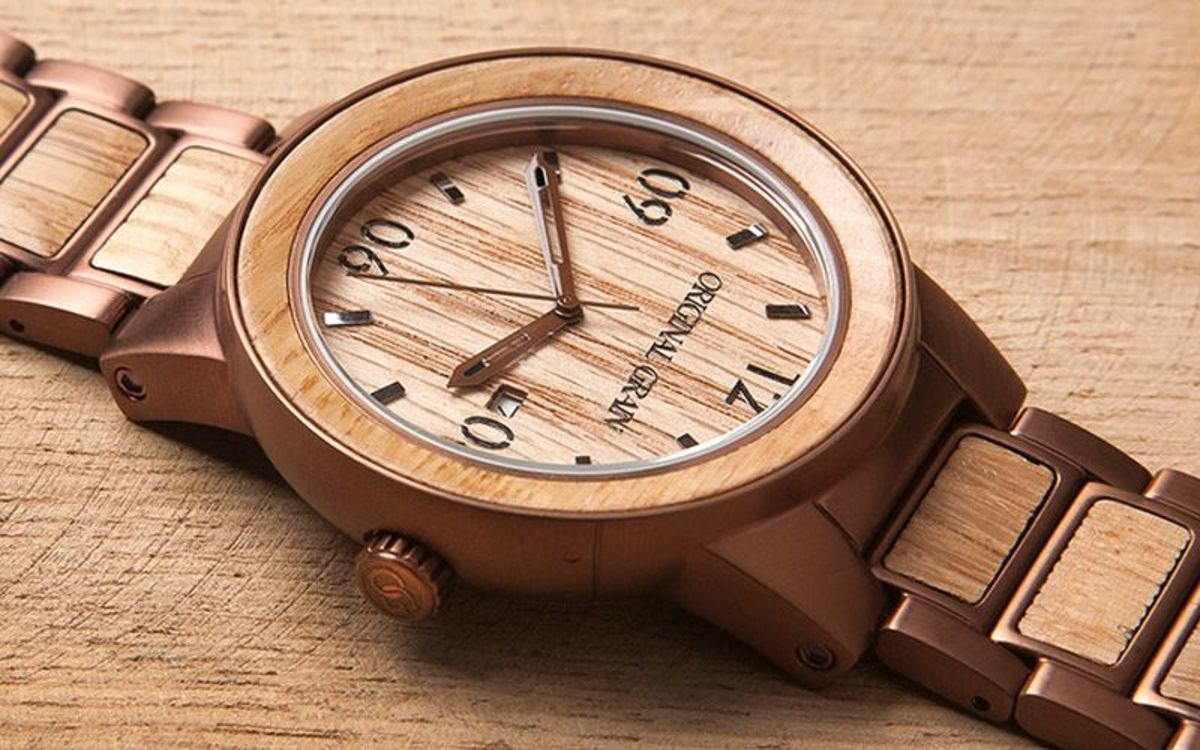 A handcrafted watch with a hint of whiskey