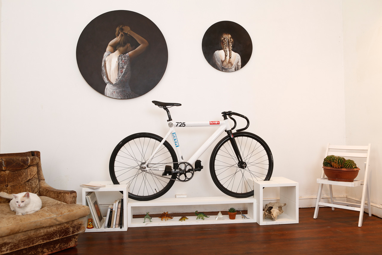 Bicycle Furniture Prop Your Wheels Up On Furniture That Doubles As A Bike Rack