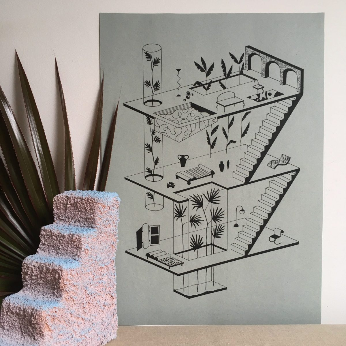 Garance Vallée Architectural Illustrations Art
