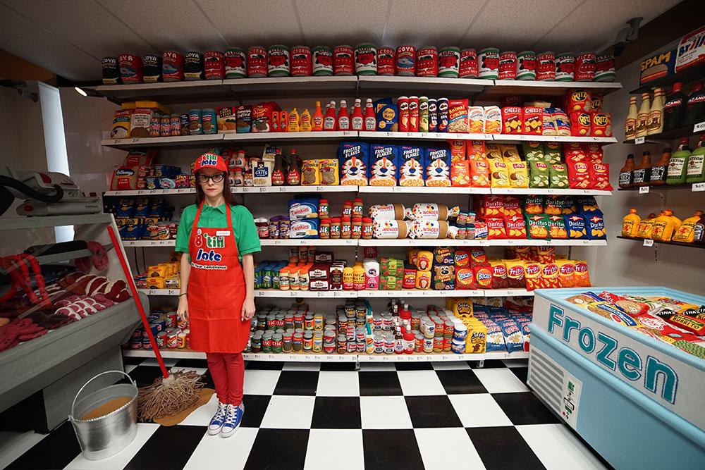 Lucy Sparrow Store Felt Art