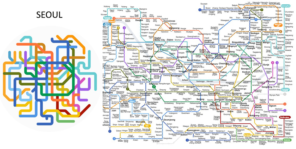 Print Seoul Subway Map 2017.A Graphic Designer Turns 220 Metro Maps Into Mini Metro Icons
