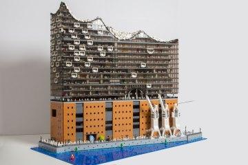 Lego Brick Monkey Art