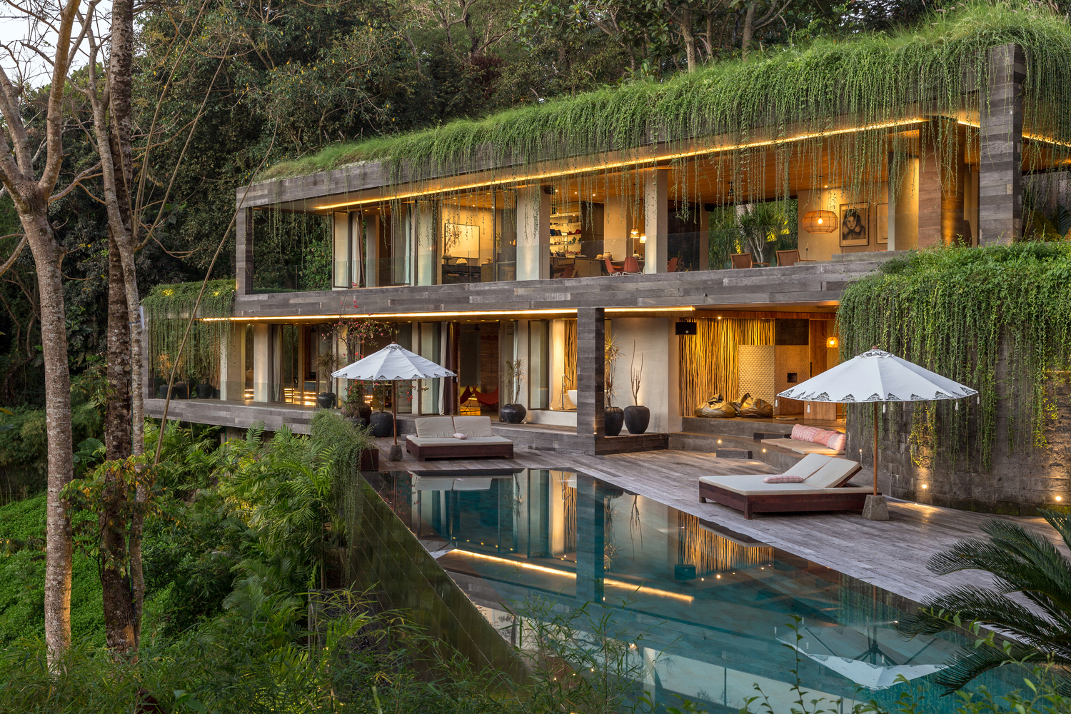 The Chameleon Villa in Bali Blends Perfectly into the Hill It\'s ...