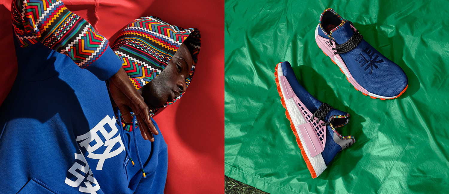 b62b2b2d2421d adidas x Pharrell Williams team up for the East African-inspired SOLARHU  Collection - PLAIN Magazine