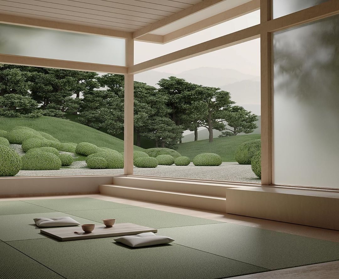 Beautiful Renders of Japanese Gardens by Studio Six N. Five padstyle