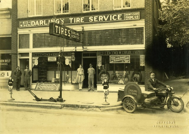 Darling's Tire Service in the mid 1920s- exterior